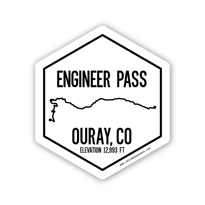 Trails of Ouray CO - (STICKER)