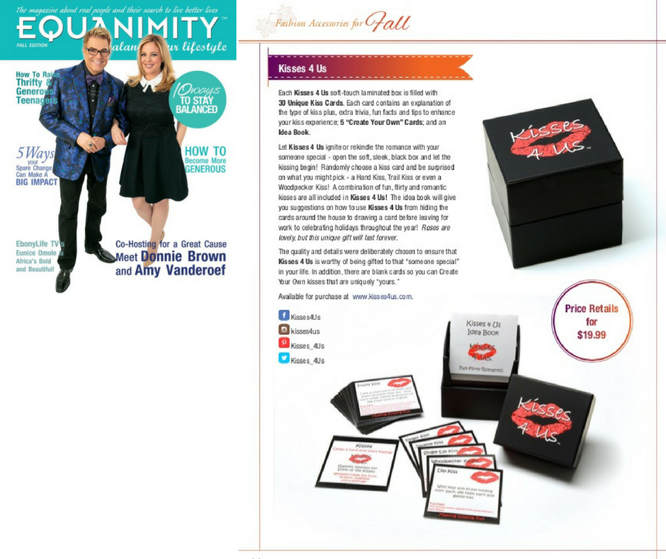 Kisses 4 Us is Featured in Equanimity Magazine