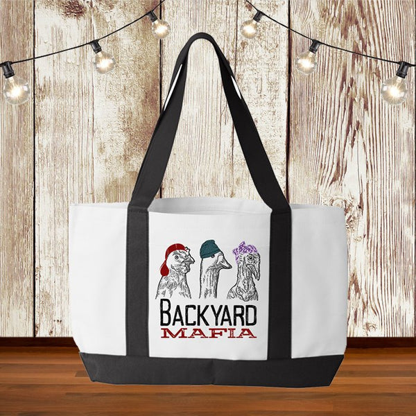 CUTE & STYLISH! Large Tote Bag, Backyard Mafia With