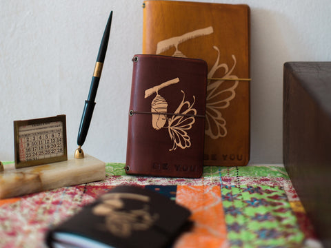 Be You Butterfly leather notebooks.