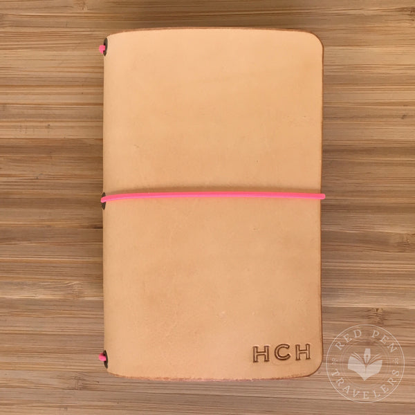 Undyed leather traveler's notebook cover from Red Pen Travelers Handcrafted Leather Notebooks