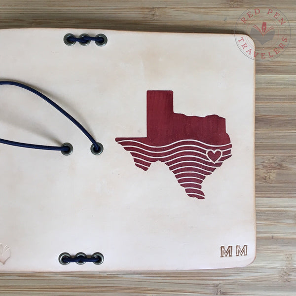 Hell or High Water Leather Travelers Notebook (All Profits Donated to Texas Hurricane Harvey Relief)