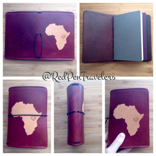 Heart for Africa Border Crossings Leather Traveler's Notebook