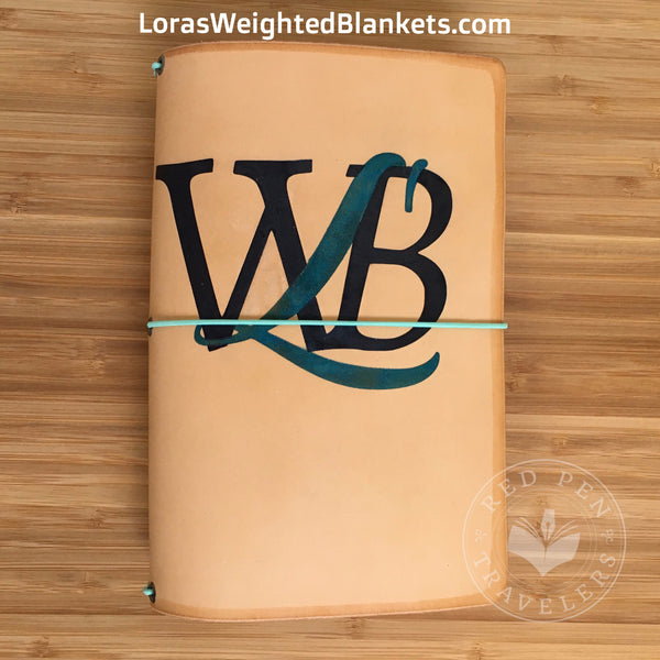 Lora's Weighted Blankets Customized Logo Leather Traveler's Notebook