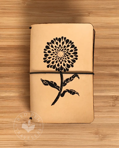 Black Zinnia Leather Traveler's Notebook