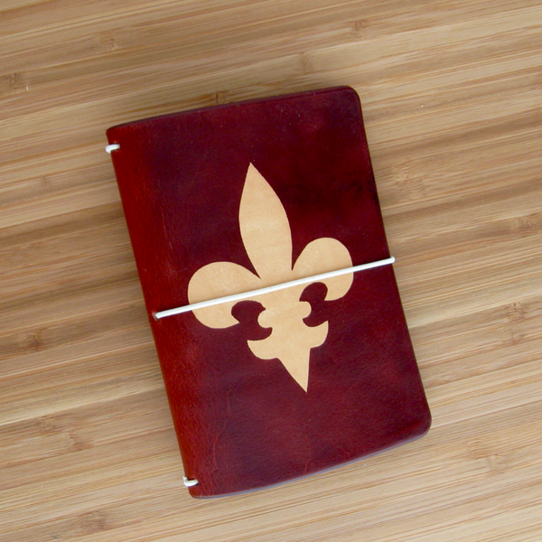 Customize Your Own Design on a Leather Traveler's Notebook