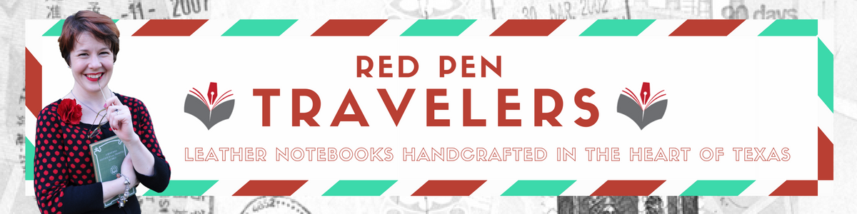 Red Pen Travelers Handmade Leather Notebooks