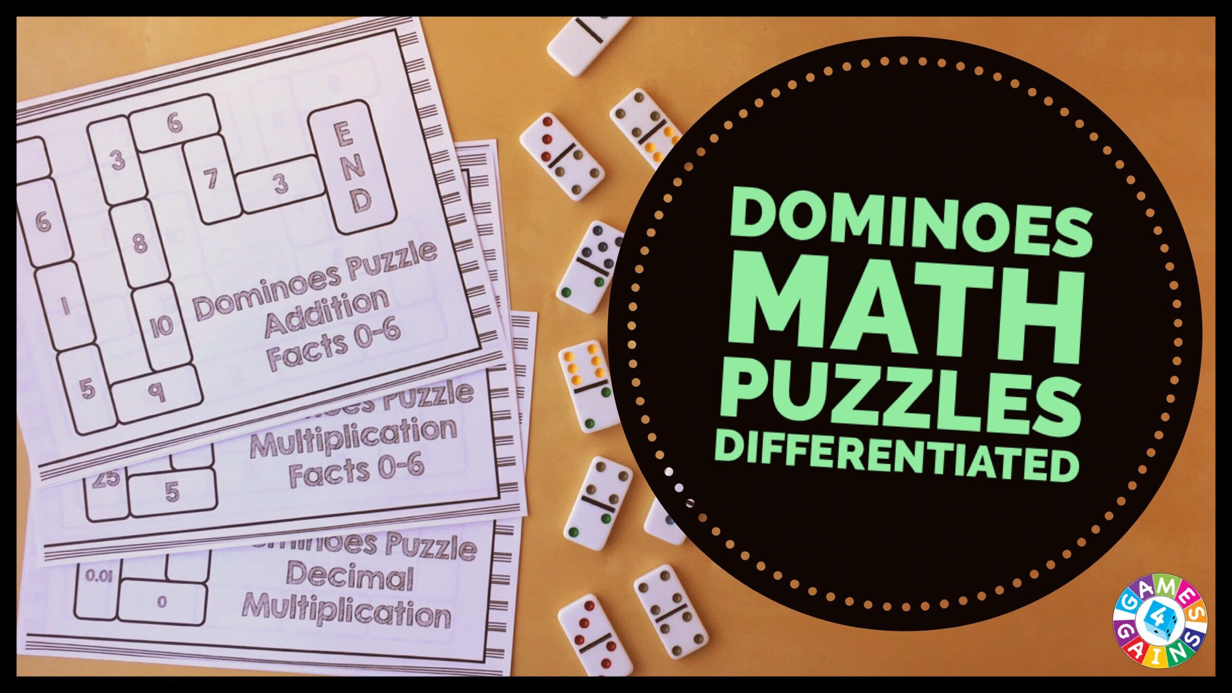 Use Basic Facts to Solve These Dominoes Math Puzzles