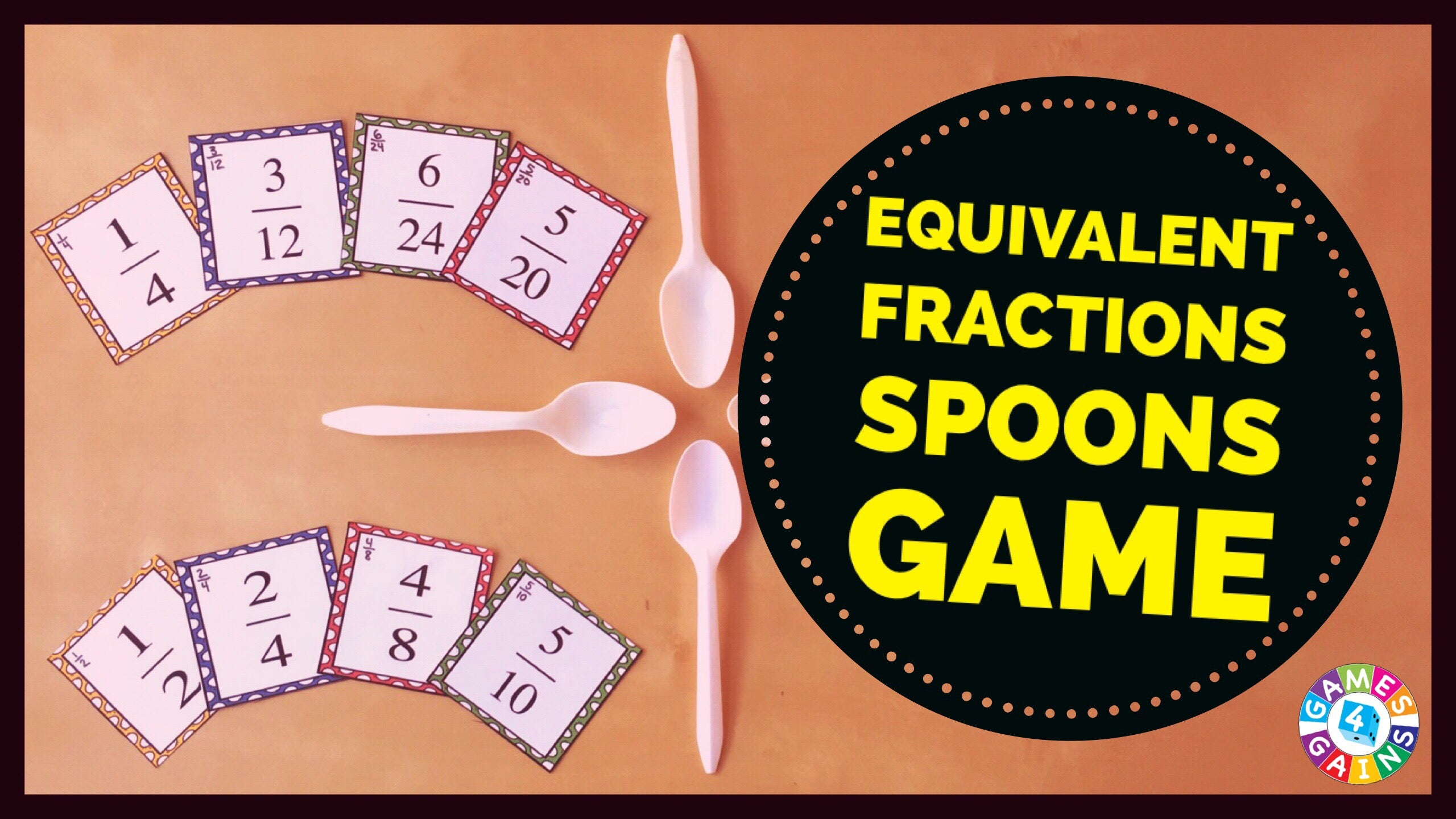 Equivalent Fractions Game Of Spoons Games 4 Gains