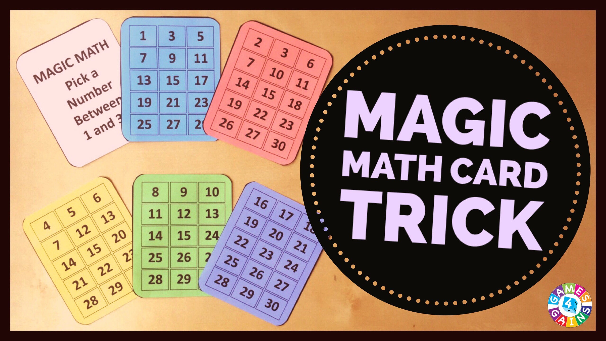 Worksheets Mind-readingnumbertrick — Mathfunfacts amaze your students with this math magic trick games 4 gains