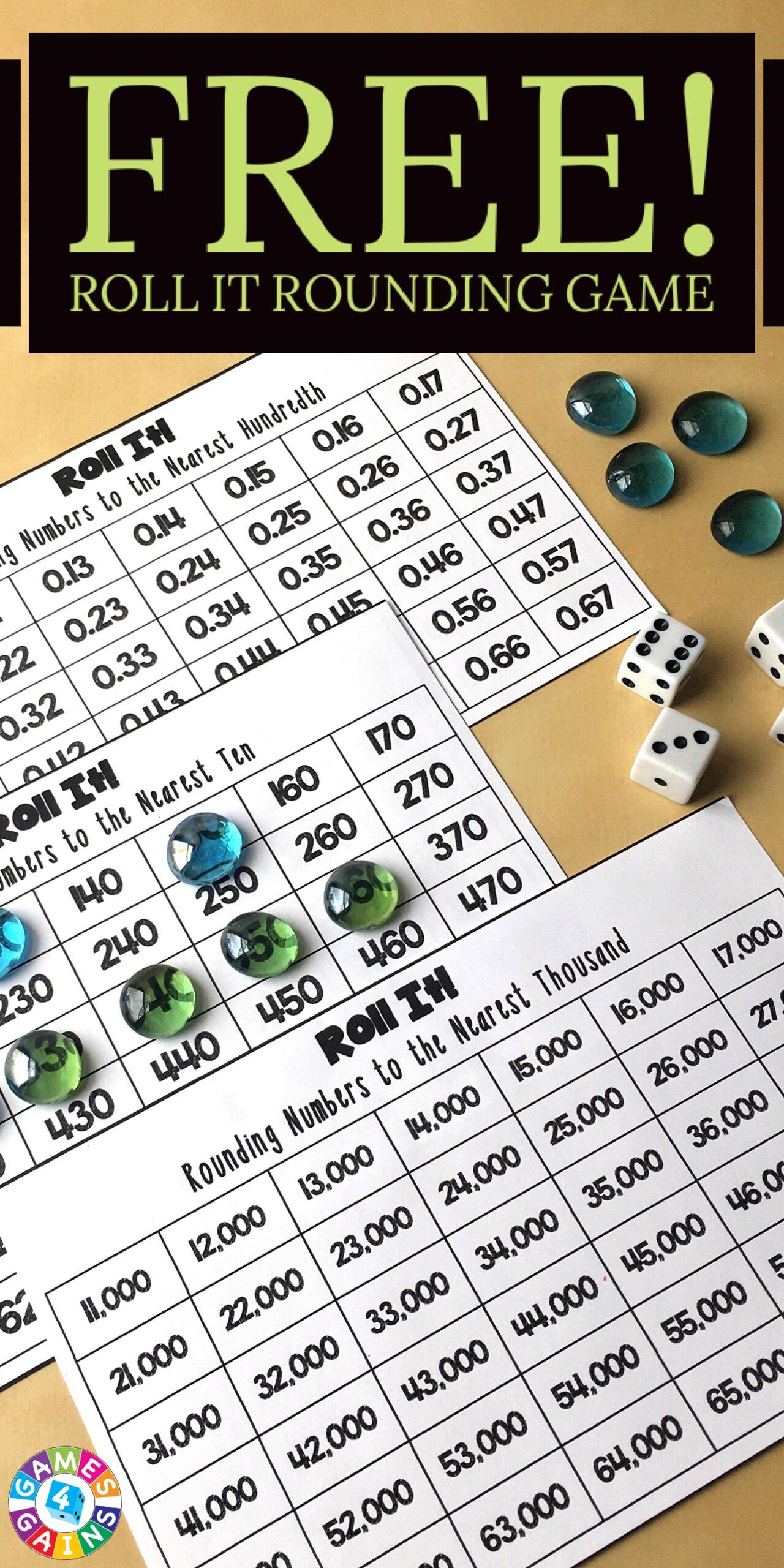 worksheet Rounding Games For 3rd Grade roll it rounding game games 4 gains looking for other fun ways to practice in your math centers check out these and activities our store