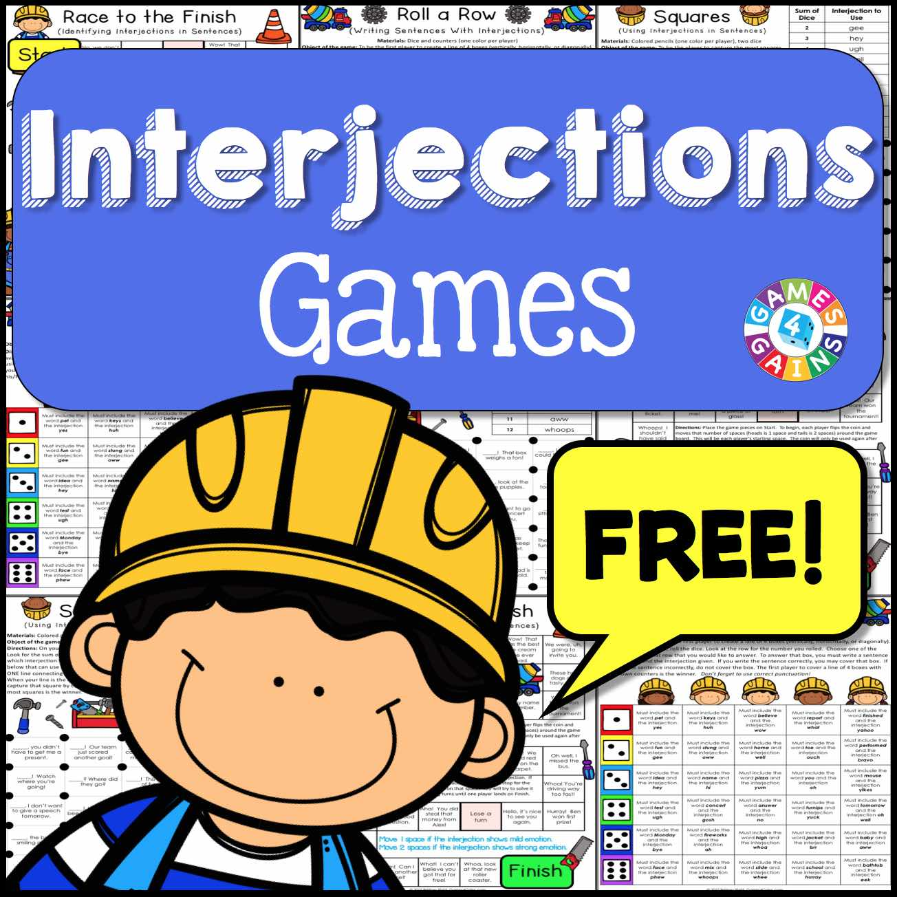 interjections games free u2013 games 4 gains
