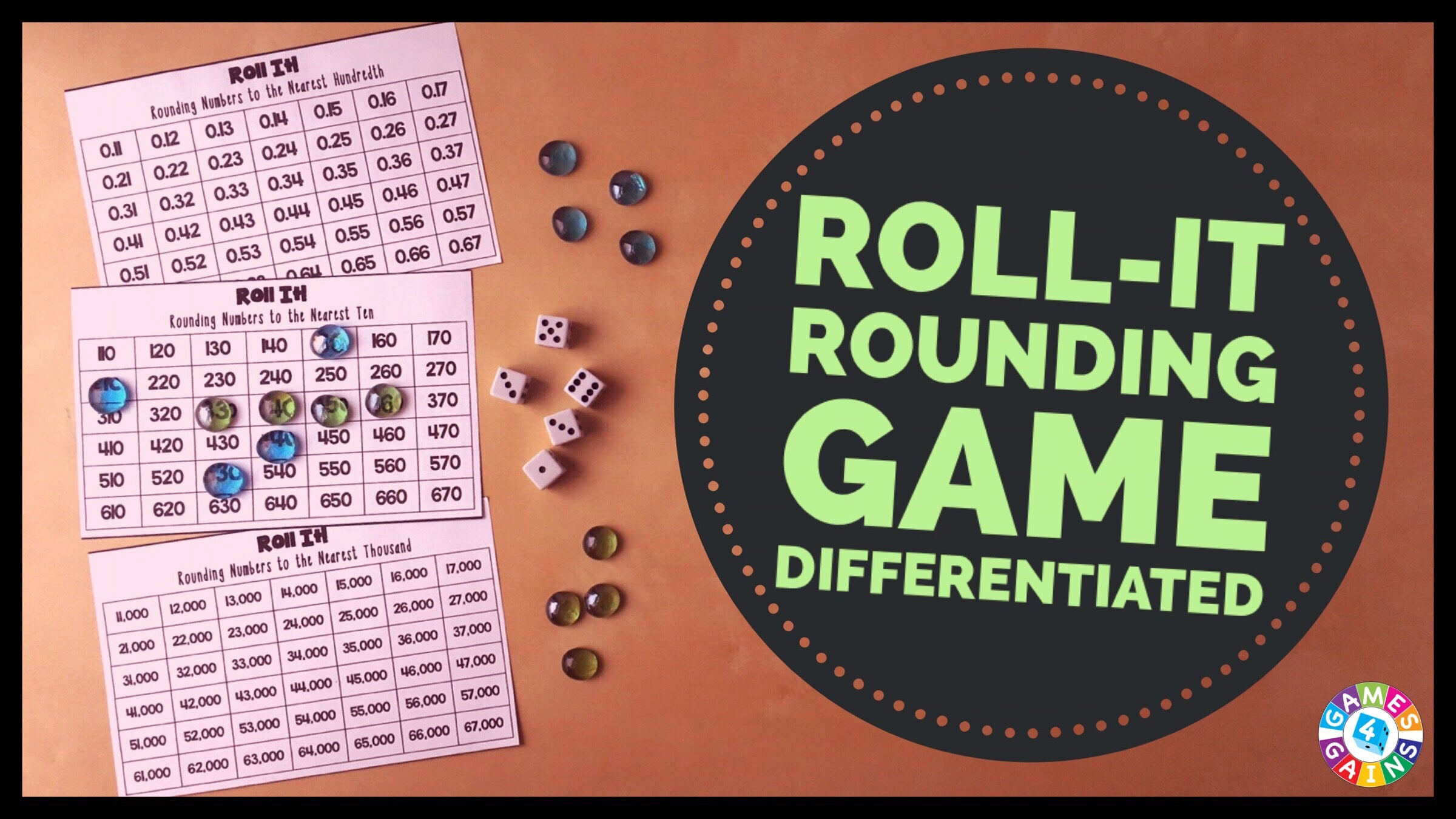 Roll It Rounding Game Games 4 Gains