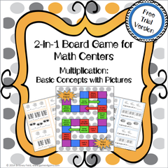 Free Multiplication 2-in-1 Board Game