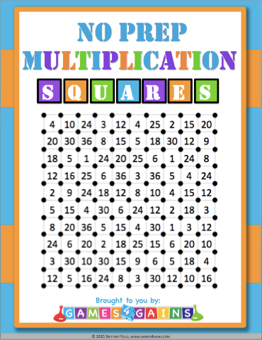 picture relating to Multiplication Game Printable titled Weve \