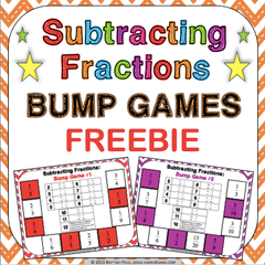 Free Subtracting Fractions Bump Games