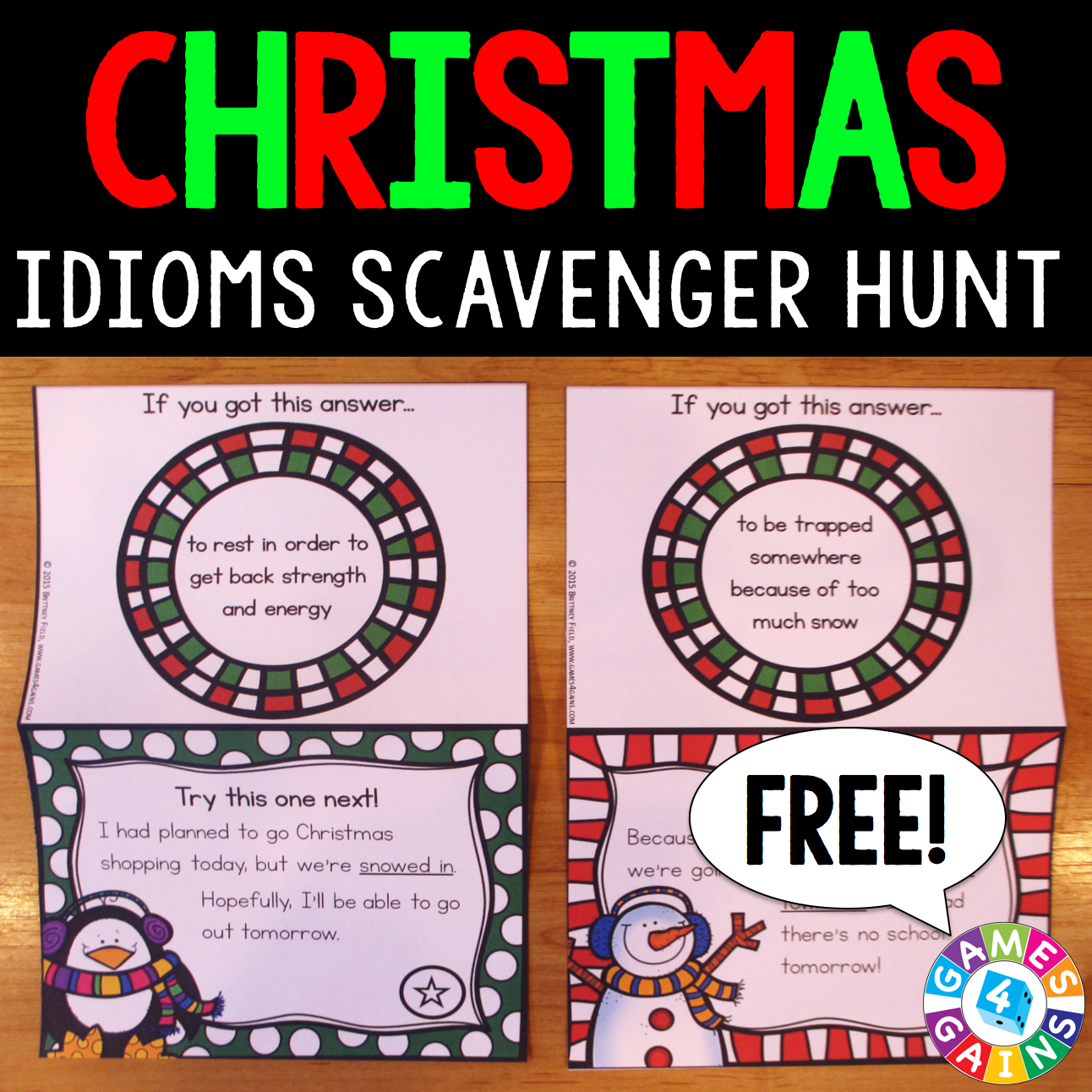grab these christmas and winter freebies - Christmas Idioms