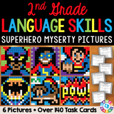 2nd Grade Language Skills Superhero Mystery Pictures - Games 4 Gains  - 1