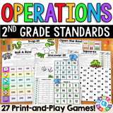 2nd Grade Operations Games - Games 4 Gains  - 1