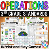 3rd Grade Operations Games - Games 4 Gains  - 1