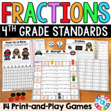 Fractions Games for 4th Grade - Games 4 Gains  - 1
