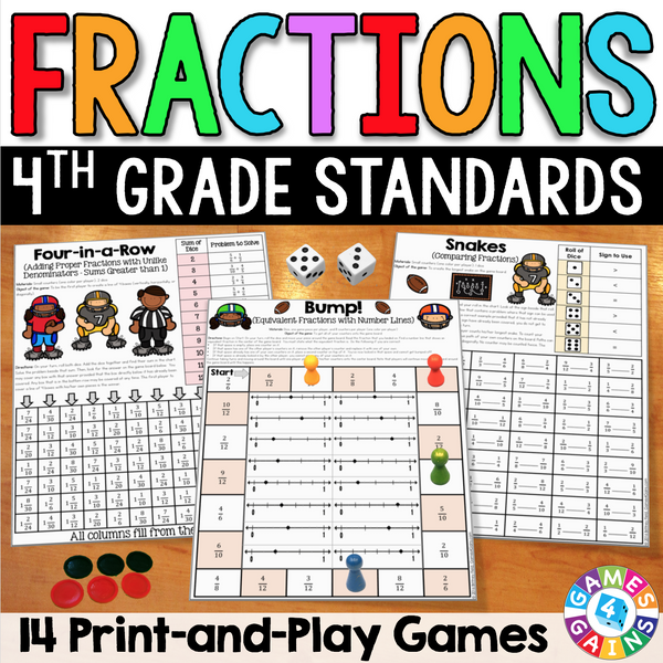 Fractions Games For 4th Grade