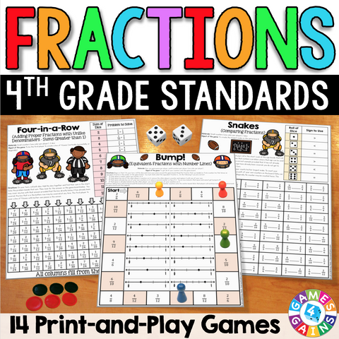 graphic about Printable Fraction Games titled Fractions Video games for 4th Quality