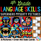 4th Grade Language Skills Superhero Mystery Pictures - Games 4 Gains  - 1