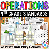 4th Grade Operations Games - Games 4 Gains  - 1