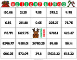 Christmas Math Bingo Game - 5th Grade - Games 4 Gains  - 3