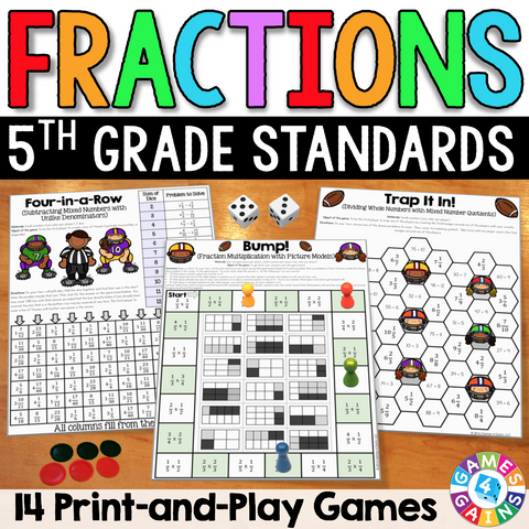 Fractions Games For 5th Grade