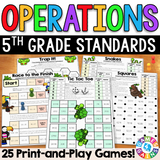 5th Grade Operations Games - Games 4 Gains  - 1