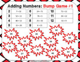 Multi-Digit Addition Bump Games - Games 4 Gains  - 3