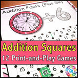 Addition 'Squares' Game - Games 4 Gains  - 1