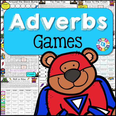 Adverbs Games - Games 4 Gains  - 1