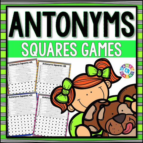 Antonyms Games - Games 4 Gains  - 1