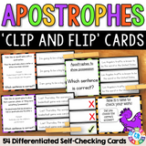 Apostrophes 'Clip and Flip' Cards - Games 4 Gains  - 1