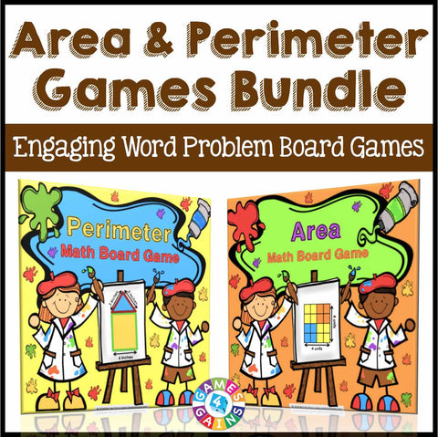Area and Perimeter Games Bundle - Games 4 Gains