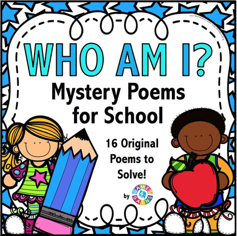 'Who Am I?' Mystery Poems - Games 4 Gains  - 1