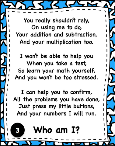 Groveton Eaglets: Math Poems and Songs