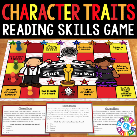 Character Traits Board Game - Games 4 Gains  - 1