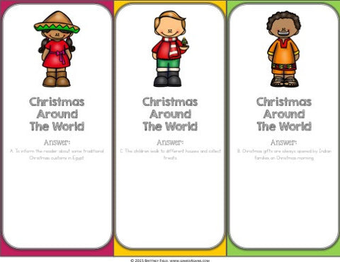 Christmas Around the World Reading Comprehension Board Game ...