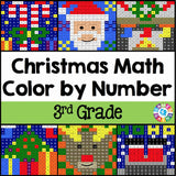 Christmas Math Color-by-Number - 3rd Grade - Games 4 Gains  - 1