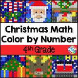 Christmas Math Color-by-Number - 4th Grade - Games 4 Gains  - 1