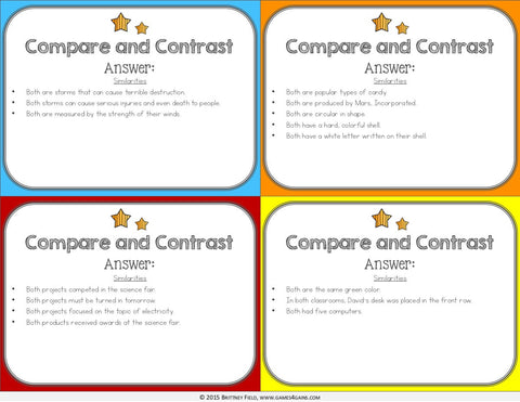 compare and contrast website