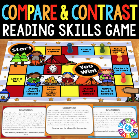 Compare and Contrast Board Game - Games 4 Gains  - 1