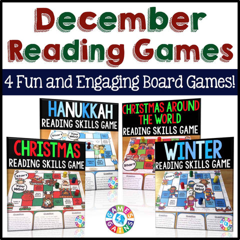 December Reading Games Bundle - Games 4 Gains
