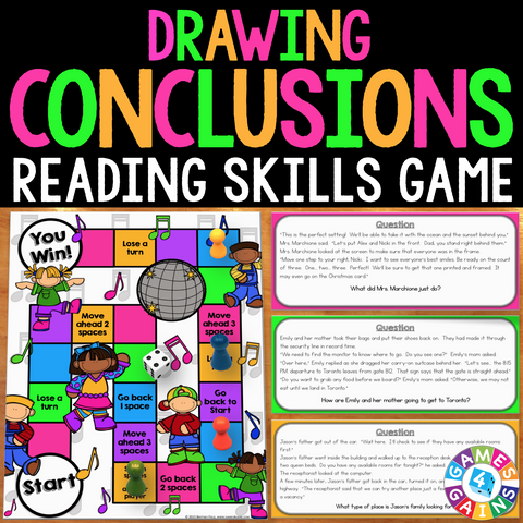 Drawing Conclusions Board Game - Games 4 Gains  - 1