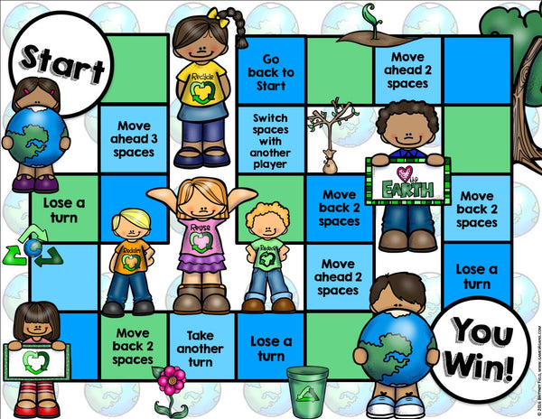 Earth Day Reading Comprehension Board Game – Games 4 Gains