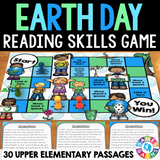 Earth Day Reading Comprehension Board Game - Games 4 Gains  - 1